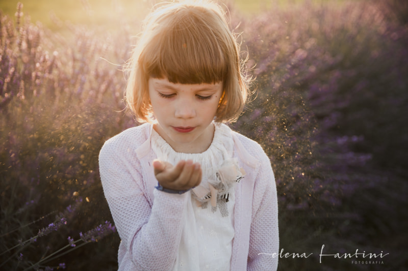 Elena Fantini Fotografa ritratti bambini lavanda
